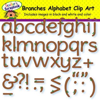 Branches Alphabet Clip Art