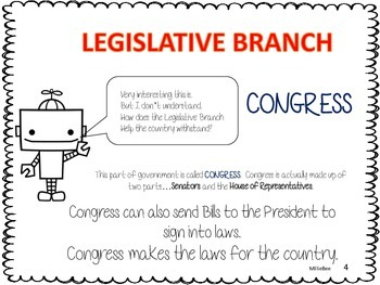 Branches of Government  Second Grade Social Studies Unit