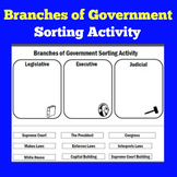 3 Branches of Government Worksheet Activity