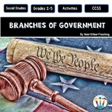 Three Branches of Government Activity Pack & Flip Book