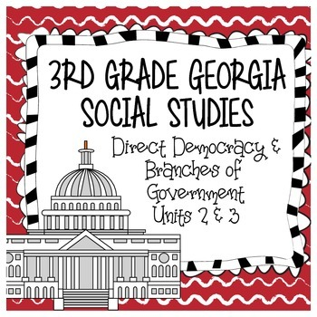 Direct Democracy & Branches of Government - 3rd Grade Geor