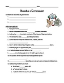 Branches of Government, Bill of Rights, and Constitution quizzes