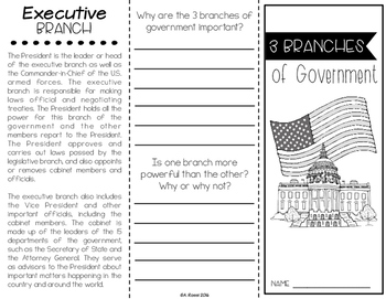 Branches of Government Brochure