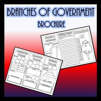 Branches of Government Brochure- Civics SS.7.C.1.7  SS.7.C.3.3- Editable