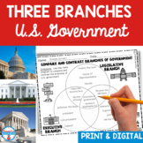 Three Branches of Government Bundle - Executive, Legislative, and Judicial