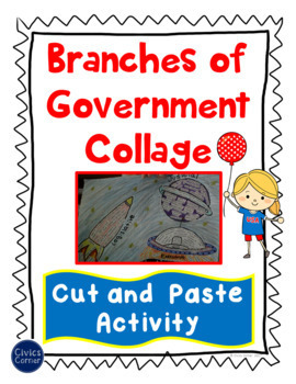 Branches of Government Collage - Cut and Paste Sorting Activity