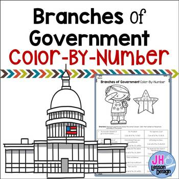Branches of Government Color-By-Number
