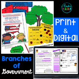 3 Branches of Government complete unit Digital and Paper BUNDLE