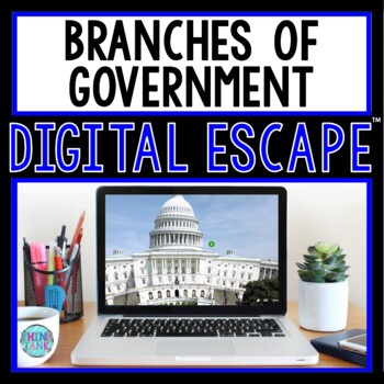 Branches of Government DIGITAL ESCAPE ROOM for Google Drive®
