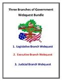 3 Branches of Government Webquest Bundle (Executive, Legislative, Judicial)