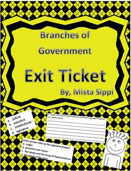 Branches of Government Exit Ticket