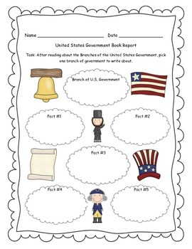 Branches of Government Informational Writing Activity