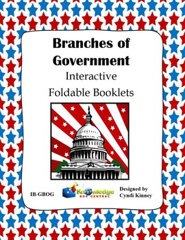 Branches of Government Interactive Foldable Booklet