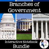 Branches of Government Interactive Notebook Bundle