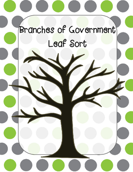 Branches of Government Leaf Sort