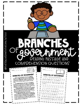 Branches of Government Reading Passage