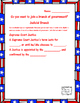 Branches of Government - Requirements to be President, Sen