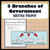Branches of Government/Separation of Powers Writing Prompt