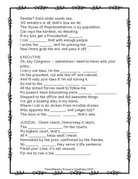 Branches of Government Song and Lyrics