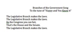 Branches of Government Song