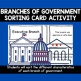 Branches of Government Sorting Card Activity