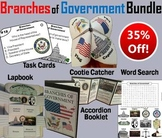 Branches of Government Task Cards and Activities Bundle: Civics