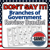 Branches of Government Unit Review Games Bundle! AP Govern