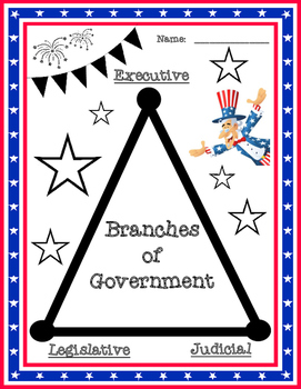 Branches of Government Visual for National, State, or Loca