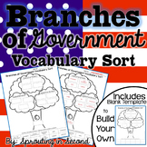 Branches of Government Vocabulary Sort