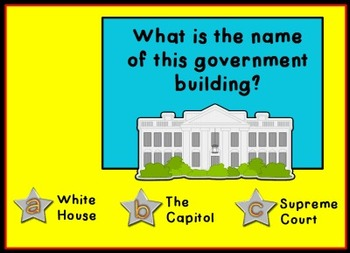 Branches of Government Voting - Promethean ActivInspire Flipchart Lesson