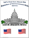 Branches of Government Webquest Scavenger Hunt Common Core Activity
