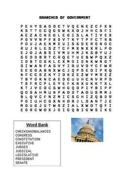 Branches of Government Word Search