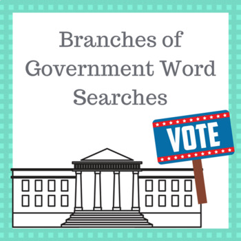 Branches of Government Word searches