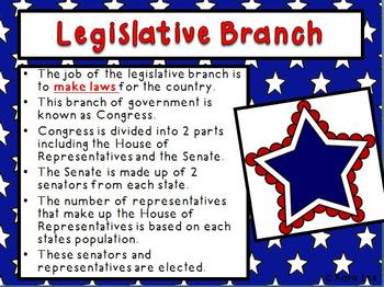Branches of Government and Checks and Balances PowerPoint and Notes Sheets