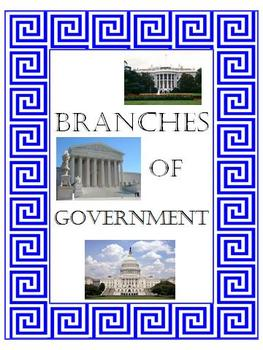 Branches of Government card sort interactive pages CRCT practice Sub Plans