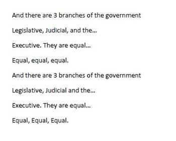 """Branches of Government song to """"Baby"""""""