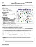 Branches of Science STEAM Careers Handout