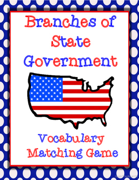 Branches of State Government Vocabulary Matching Game