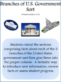 Branches of U.S. Government Cut, Sort and Paste Social Studies  - Grades 4-6