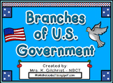 Branches of United States Government Promethean ActivInspire Flipchart Lesson