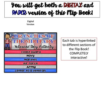 Veteran's Day Activity:  Branches of the Military {Digital}