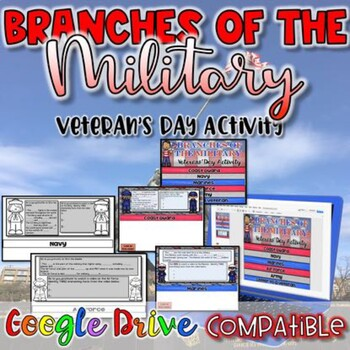 Branches of the Military-Veteran's Day Activity {Google Drive}