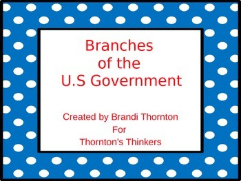 Branches of the U.S. Government