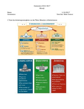 Branches of the US Government, Slavery, & WWII intermixed