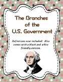 Branches of the U.S. Government foldable