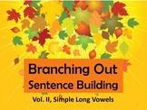 Preprinted/No Prep Branching Out Sentence Building Vol. II Long Vowels
