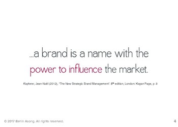 Brand Building: Positioning Model
