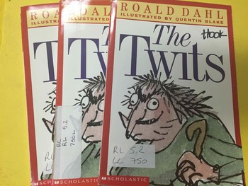 """Brand NEW """"The Twits"""" books, by Roald Dalh - Literature Circle Set"""
