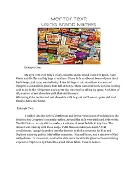 Brand Names in Creative Writing  Special Education
