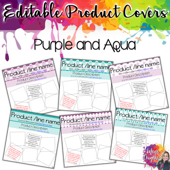 Branded Covers-Purple and Aqua